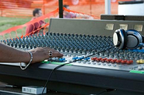 Hand on sound board